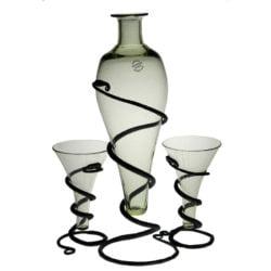 Mjöd-set: flaska + 2 vikingaglas