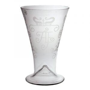Ölglas med gravyr, Henrikstorp