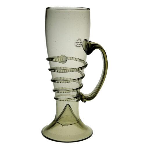 Glas med spiral & handtag