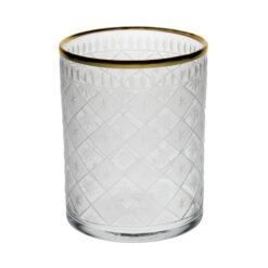 Dricksglas med gravyr & guldkant