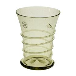 Glas med ofärgad tråddekor