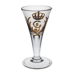 Spetsglas med gravyr Gustav III