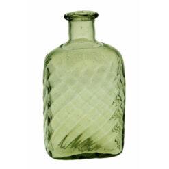 "Optikblåst kantig flaska ""Taskumatti"", grön"