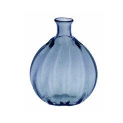 """Optikblåst oval flaska """"Taskumatti"""", blå"""