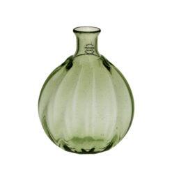 """Optikblåst oval flaska """"Taskumatti"""", grön"""