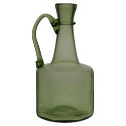 8-kantig flaska med handtag, grön