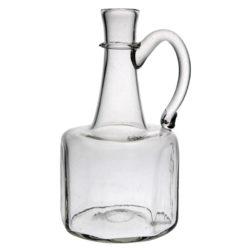 8-kantig flaska med handtag, ofärgad