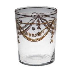 Dricksglas med graverad guldkrans