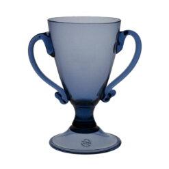 Pokal med dubbla handtag, Blå