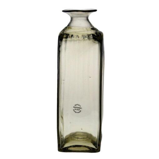 Fyrkantig flaska, optikblåst