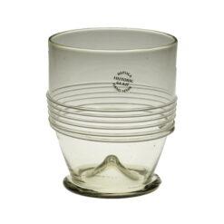 Glas med tråddekor