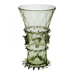 Glas med djurhuvud