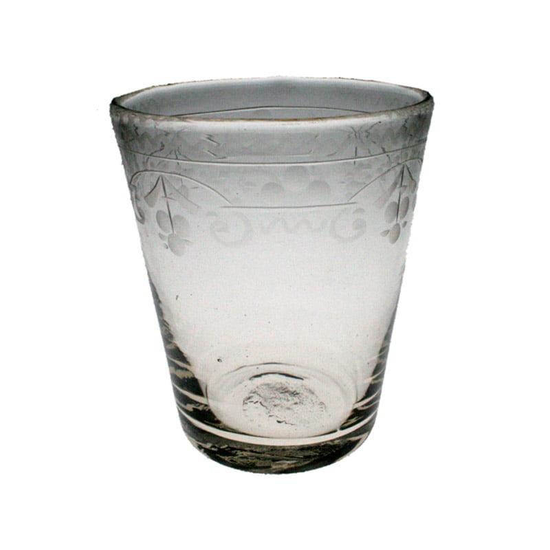 Selterglas med gravyr, Henrikstorp