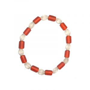 Armband, rött/vitt glas, vikingatid