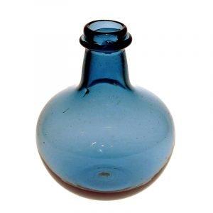Blå flaska, liten rund