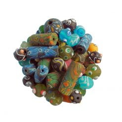 Glaspärlor, blandad stil, frostade