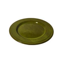 Stor keramiktallrik med gul glasyr