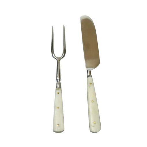 Kniv och gaffel av järn/ben